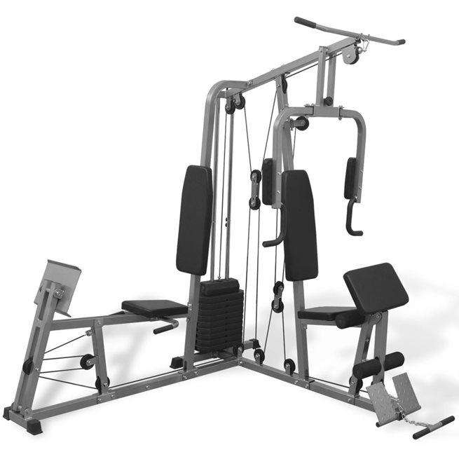 vidaXL Multifunktionellt hemmagym 65 kg